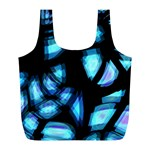 Blue light Full Print Recycle Bags (L)  Front
