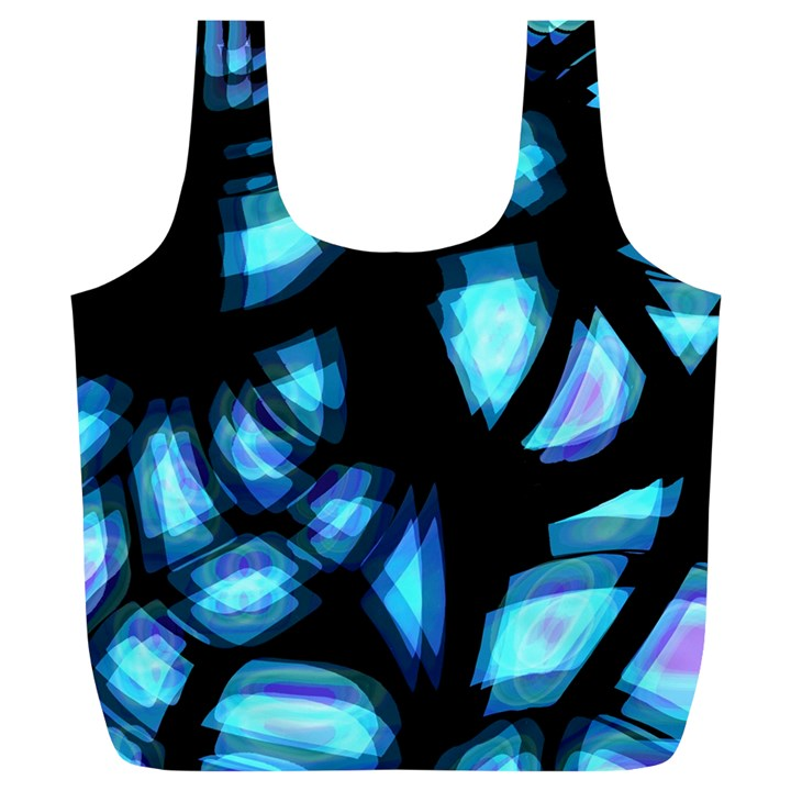 Blue light Full Print Recycle Bags (L)