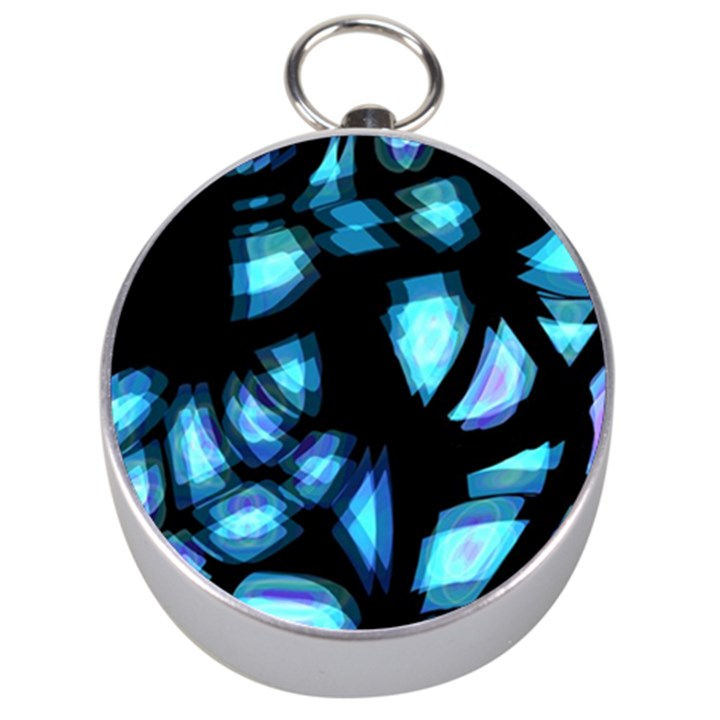 Blue light Silver Compasses