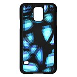 Blue light Samsung Galaxy S5 Case (Black) Front