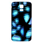 Blue light Samsung Galaxy S5 Back Case (White) Front