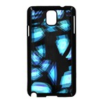 Blue light Samsung Galaxy Note 3 Neo Hardshell Case (Black) Front