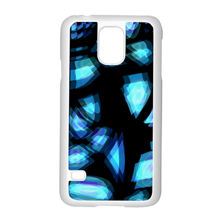 Blue light Samsung Galaxy S5 Case (White)
