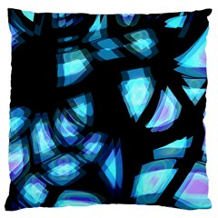 Blue light Large Flano Cushion Case (One Side)