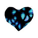 Blue light Standard 16  Premium Flano Heart Shape Cushions Back