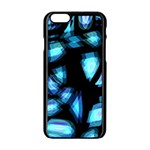 Blue light Apple iPhone 6/6S Black Enamel Case Front