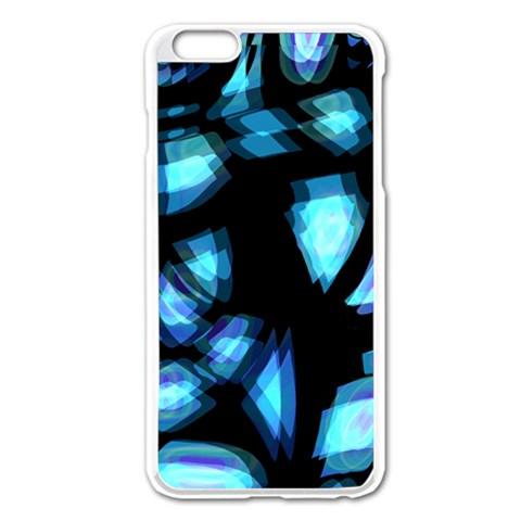 Blue light Apple iPhone 6 Plus/6S Plus Enamel White Case