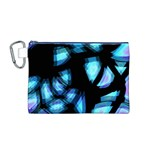 Blue light Canvas Cosmetic Bag (M) Front
