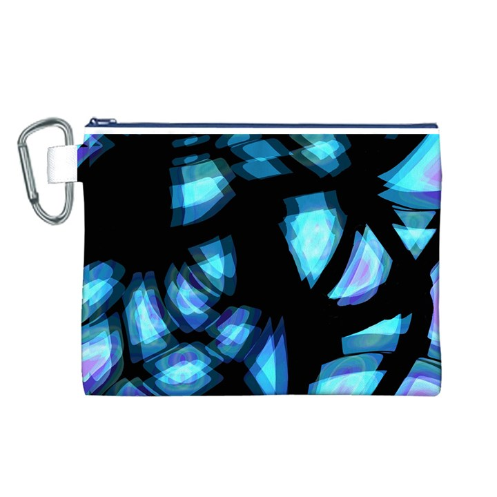 Blue light Canvas Cosmetic Bag (L)