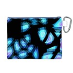 Blue light Canvas Cosmetic Bag (XL) Back