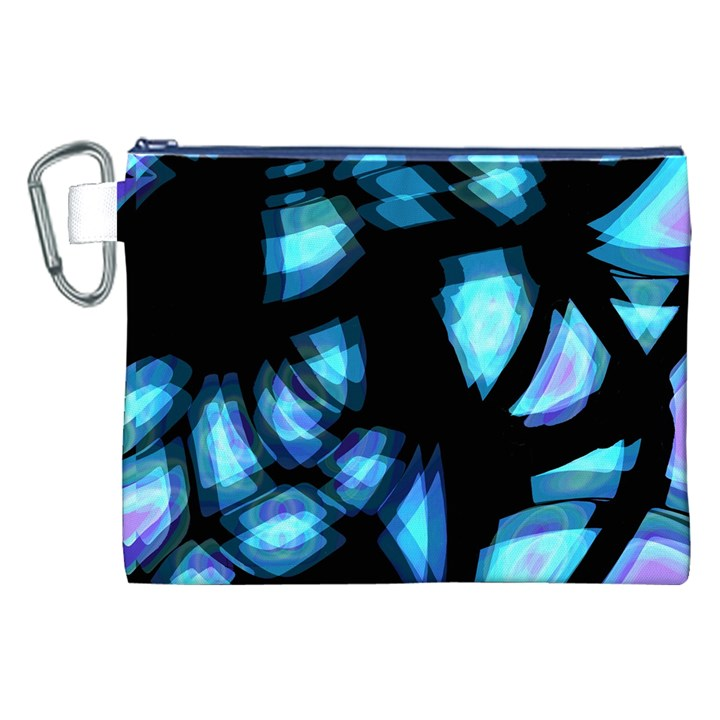 Blue light Canvas Cosmetic Bag (XXL)