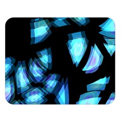 Blue light Double Sided Flano Blanket (Large)