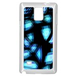 Blue light Samsung Galaxy Note 4 Case (White) Front