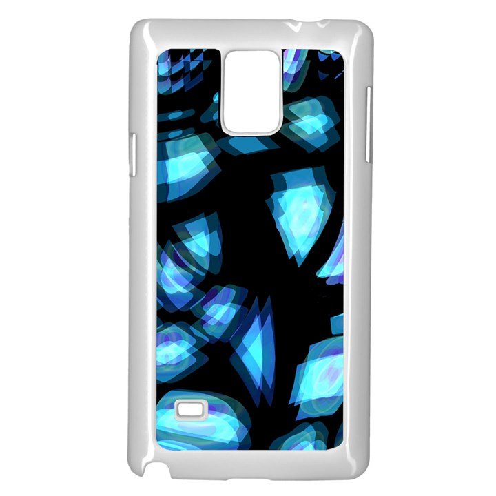 Blue light Samsung Galaxy Note 4 Case (White)