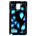 Blue light Samsung Galaxy Note 4 Case (Black) Front