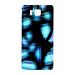 Blue light Samsung Galaxy Alpha Hardshell Back Case Front