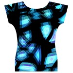 Blue light Women s V-Neck Cap Sleeve Top Back