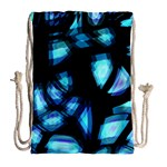 Blue light Drawstring Bag (Large) Back