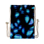Blue light Drawstring Bag (Small) Back