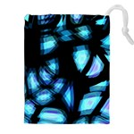 Blue light Drawstring Pouches (XXL) Front