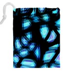 Blue light Drawstring Pouches (XXL) Back