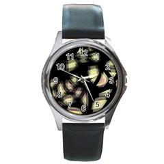 Follow The Light Round Metal Watch
