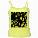 Follow the light Yellow Spaghetti Tank Front