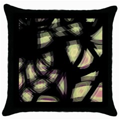 Follow the light Throw Pillow Case (Black)