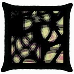 Follow the light Throw Pillow Case (Black) Front