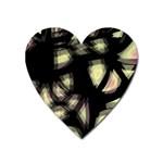 Follow the light Heart Magnet Front
