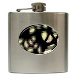 Follow the light Hip Flask (6 oz) Front