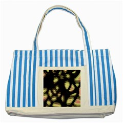 Follow the light Striped Blue Tote Bag