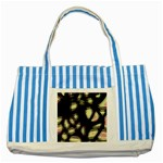 Follow the light Striped Blue Tote Bag Front