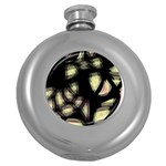 Follow the light Round Hip Flask (5 oz) Front