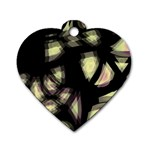Follow the light Dog Tag Heart (Two Sides) Back
