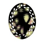 Follow the light Oval Filigree Ornament (2-Side)  Front
