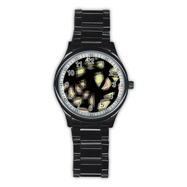 Follow the light Stainless Steel Round Watch