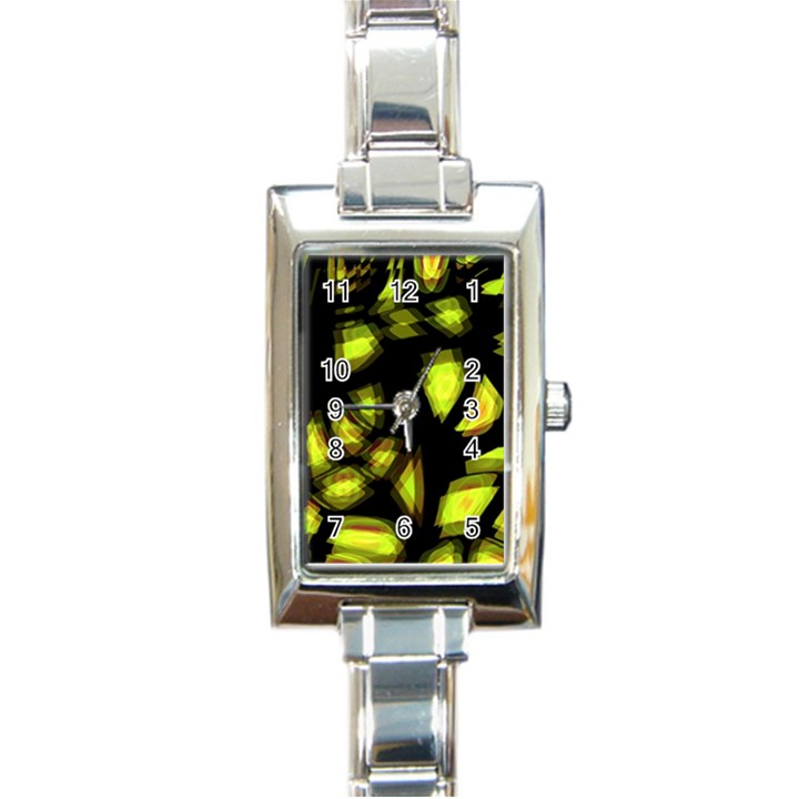 Yellow light Rectangle Italian Charm Watch