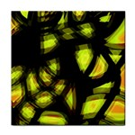 Yellow light Tile Coasters Front