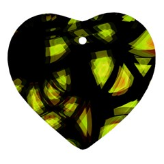 Yellow light Ornament (Heart)