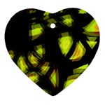 Yellow light Ornament (Heart)  Front