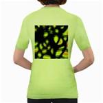 Yellow light Women s Green T-Shirt Back