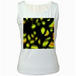 Yellow light Women s White Tank Top Front