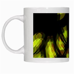 Yellow light White Mugs