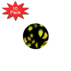 Yellow Light 1  Mini Magnet (10 Pack)
