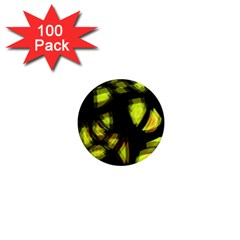 Yellow light 1  Mini Magnets (100 pack)