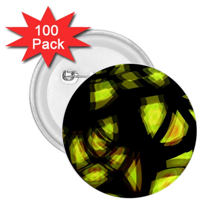 Yellow light 2.25  Buttons (100 pack)
