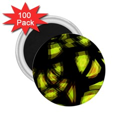 Yellow Light 2 25  Magnets (100 Pack)