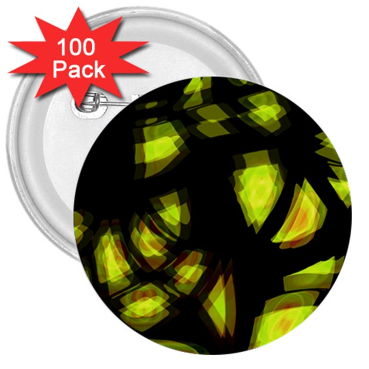 Yellow light 3  Buttons (100 pack)