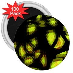 Yellow light 3  Magnets (100 pack)